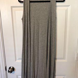 Staple piece! Grey sleeveless coverup
